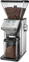 14 Cup Capacity/ 18 Grind Settings/ Removable 1 lb Bean Hopper/ Easy To Read LCD Display/ Dishwasher-Safe Parts/ Stainless Steel Finish