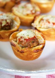 Meatball Sub Cupcakes. Want to enjoy the delicious flavor of a meatball sub without stuffing yourself? Make these bite-size treats. http://thestir.cafemom.com/food_party/187387/10_finger_foods_kids_will/134508/meatball_sub_cupcakes/4