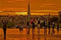 Une belle photo du Mont des Arts à Bruxelles ! Copyright Momo van Brussel http://www.flickr.com/photos/wipnet/