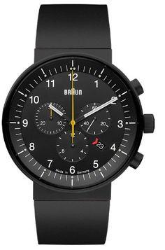 Cool Watches, Rolex Watches, Watches For Men, Black Watches, Omega Speedmaster, Braun Design, Herren Chronograph, Speedmaster Professional, Breitling Navitimer
