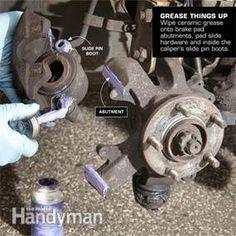 DIY Brake Tips – Article: The Family Handyman Auto Maintanance Truck Repair, Engine Repair, Vehicle Repair, Car Brake Repair, Auto Engine, Brake Pad Replacement, Brake Service, Car Fix, Car Restoration