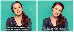Felicia Day, speaking out against all haters. You go girl! Felicia Day, Supernatural Tv Show, Tyler Oakley, Troye Sivan, Destiel, Superwholock, Winchester, Good People, Role Models