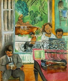 Music Lesson 1917 by Henri Matisse. Artwork Type: Painting; Museums: The Barnes Foundation, Philadelphia; Oil on canvas;