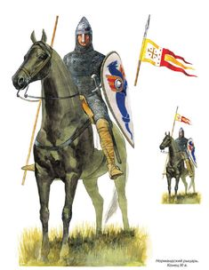 The Norman Knight. The end of XI century. Norman Knight, Norman Conquest, Southern Italy, 11th Century, Dark Ages, Barbarian, Middle Ages, Art History, Medieval