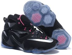 competitive price 48fba f710d Lebron 13 Shoes Black Silver Pink Mens Basketball Sneakers, Nike Sneakers,  Discount Sneakers,