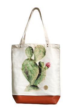 Tote Bag CACTUS 100% Organic Cotton by AnnetWeelinkDesign