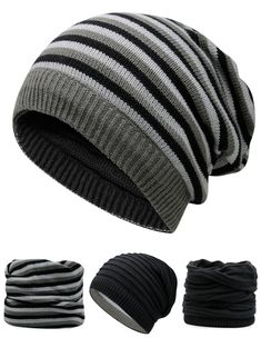 Outdoor Reversible Crochet Knitted Open Top Beanie 4f32325d244
