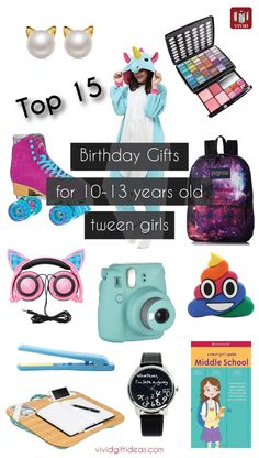 birthday gifts for tween girls. 10-13 years old. tween gift ideas.