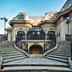 Casa Bazil G. Assan / Casa Oamenilor de Știință - București. Art Nouveau Architecture, Timeline Photos, Louvre, Stairs, Landscape, Country, Building, Amazing, Travel
