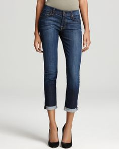 7 For All Mankind Jeans - Skinny Crop  Roll | Bloomingdale's