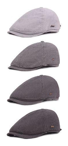 121ec69c68f64e Men Plover Lattice Cotton Beret Cap Retro Forward Hat Newsboy Cap Peaked  Gorras Adjustable Hat is hot sale on Newchic.