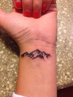 mountain wrist tattoos | Tattoos on Pinterest | 622 Photos on phoenix tattoos, rose tattoos an ...