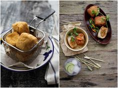 Tahu Isi Recipe Vegetarian Stuffing, Vegetarian Recipes, Indonesian Cuisine, Indonesian Recipes, A Food, Food And Drink, Mother Recipe, Food Stall
