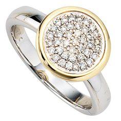 Dreambase Damen-Ring weiß gelb kombiniert 14 Karat (585) Bicolor 40 Diamant 0.28 ct. 56 (17.8) von Dreambase, http://www.amazon.de/dp/B00AB3S5WQ/ref=cm_sw_r_pi_dp_n6W-qb08VQS0K