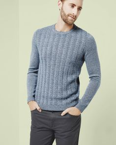 c3e71416ebd3ce Cable knit wool jumper - Navy