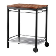 KLASEN Serving cart, outdoor IKEA The KLASEN cart provides an extra storage area which can be moved easily. Ikea Sortiment, Powder Coating Wheels, Spring Decoration, Serving Cart, Serving Plates, Ikea Usa, Driven By Decor, Utility Cart, Black Stainless Steel