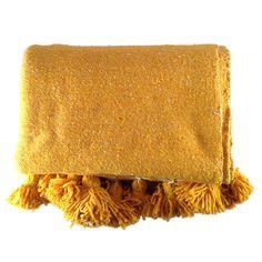 Citrus Wool Pom Pom Blanket