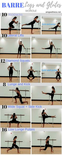 BARRE- Legs and Glutes Workout – No Barre needed! This workout can be done in BARRE- Bein- und Gesäßtraining. Pilates Workout Routine, Fitness Workouts, Ballet Barre Workout, Barre Workout Video, Barre Exercises At Home, Pilates Barre, Bar Workout, Prenatal Pilates, Home Barre Workout