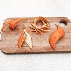 Orange garnishes ! #orangepeel #garnish #cocktail