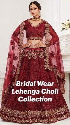 Indian Bridal Outfits, Indian Fashion Dresses, Red Wedding Dresses, Bridal Dresses, Wedding Outfits, Nikkah Dress, Bridal Lehenga Choli, Dress Collection, Party Dress