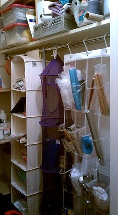 hanging organizers seem like they would be pretty efficient and good for taking up less room