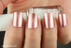 Nail Colors, Nail Polish Trends, Nail Care & At-Home Manicure Supplies by Essie. Shop nail polishes, stickers, and magnetic polishes to create your own nail art look. Cute Nails, Pretty Nails, Hair And Nails, My Nails, Copper Nails, Gold Nails, Gold Manicure, Chrome Nails, Fall Nail Polish