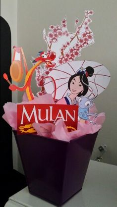 Mulan party centerpiece #2