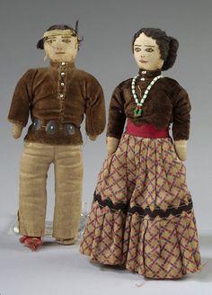 Pair of Navajo Dolls, ca 1920