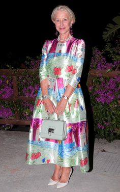 Helen Mirren played the Dolce & Gabbana darling in one of the Italian brand's hand sketched dresses at the Giffoni Film Festival