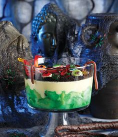 25 Fail-Safe Sweet Treats: Triffle With Death~~made this with my little sister. There's a lot of waiting involved in between certain stages, but it's a neat halloween dessert