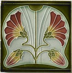 I wonder if I could make some art nouveau tiles.