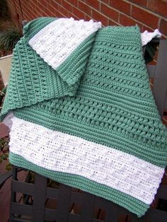 "Free pattern for ""Textured Reversible Lap Blanket""!"