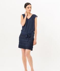 Robe bleu marine esprit Charleston Mistinguette