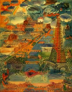 Raoul Dufy (French; Fauvism, Modernism, 1877-1953): Paris, 1934. Oil on canvas, 196.2 x 156.5 cm. Los Angeles County Museum of Art, Los Angeles, California, USA. —