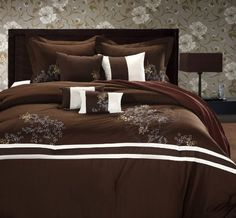 "12pc Parker Av Brown Luxury Bed-in-a-Bag . $174.99. 12pc Queen Set Includes: 1 Comforter 90""x90"" 2 Pillow Shams 20x26""+2"" 2 Decorative Pillows 18x18"" 2 Bonus Pillows 9x14"" 1 Skirt 60""x80""x14"" Queen 600TC Sheet Set Includes: 1 Flat Sheet -Queen 91""x105"" 1 Fitted Sheet -Queen 60""x80""x16"" 2 Standard Pillow Cases 20""x30"" ___________________________ 12pc King Set Includes: 1 Comforter 110""x90"" 2 Pillow Shams 20x36""+2"" 2 Decorative Pillows 18x18"" 2 Bonus Pillows 9x14"" 1 Skirt 78""x80""x..."