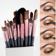 20Pcs Makeup Paint Brush Set Powder Foundation Eyeshadow Eyeliner Lip Brush Pro Makeup