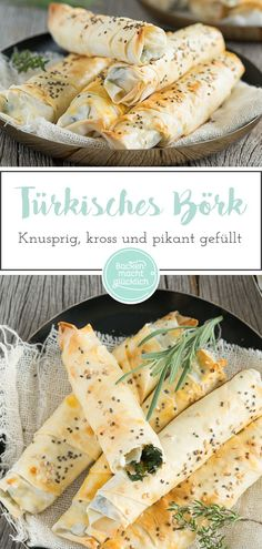 Crunchy, crispy and spicy: this Börek with cheese and spinach tastes … - Herzhaft Armenian Recipes, Marmalade Cake Recipe, Yogurt Drink Recipe, Savoury Pastry Recipe, Spinach Bake, Honey Recipes, Evening Meals, Four, Snacks