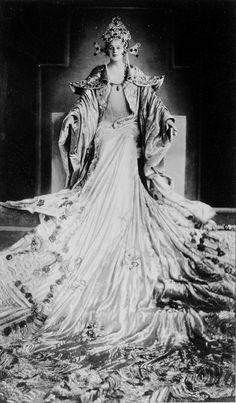 Moravian soprano Maria Jeritza wearing a spectacular costume as Turandot. Met 1926                                                                                                                                                     More