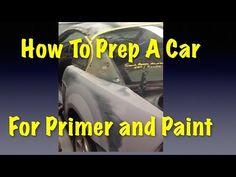 How To Prep A Car For Primer and Paint - Eastwood Mustang Project Car Rust Repair, Car Paint Repair, Car Painting, Spray Painting, Auto Body Work, Car Fix, Car Hacks, Diy Car, Metal Fabrication