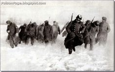 German soldiers retreating in December 1941. The harsh winter and the Red offensive had them reeling.