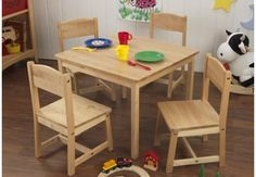 Kid Kraft Table and Chairs - Farmhouse Table & 4 Chairs- Kids Furniture for any Nursery or Kids Room|Find|Buy|Shop|Compare|LollipopMoon.com only $179.99 - Tables & Chairs