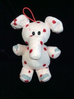 "Misfit Elephant Rudolph Island F Misfit Toys Plush Ornament Polka Dot  7"" #Prestige"