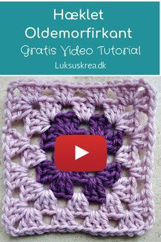 pretty and super stretchy crochet ribbing. Easy and free videotutorial. Crochet Stitches Free, Granny Square Crochet Pattern, Crochet Squares, Crochet Motif, Granny Square Tutorial, Crochet Bedspread Pattern, Afghan Crochet Patterns, Knitting Patterns, Diy Crafts Crochet