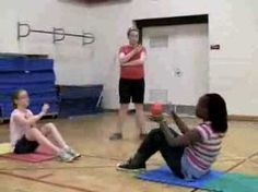 Partner Sit Up Throw and Catch Fitness Challenge