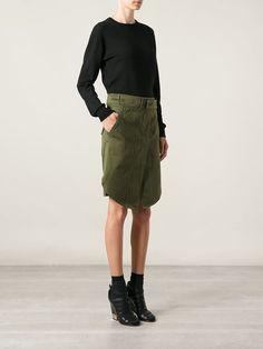 Isabel Marant Military Belted Skirt - Wendela Van Dijk - Farfetch.com