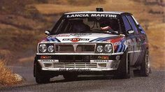 Lancia Delta HF Integrale group A - Racing Cars Lancia Delta, Sports Car Racing, Race Cars, Subaru Rally, Rally Raid, Courses, Fiat, Martini, Cars And Motorcycles