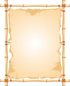 Vector drawing of bamboo frame with a stretched curtain Frame Border Design, Page Borders Design, Page Background Design, Background Images, Borders For Paper, Borders And Frames, Festa Moana Baby, Certificate Border, Tropical Frames