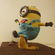 Anti-gravity minion cake!!  - Cake by The Little Cake Factory