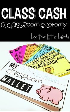This would act as a reward system, assist in classroom management, ane help young student learn the concept of money. A classroom economy includes everything you need for classroom management while teaching important life skills. Classroom Economy System, Classroom Rewards, Classroom Behavior Management, 5th Grade Classroom, Class Management, Kindergarten Classroom, Classroom Organization, Classroom Ideas, Behavior Plans