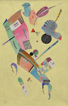 "Wassily Kandinsky (1866-1944), ""Moderation"" 1940, Oil and enamel on canvas, 39 ¼ x 25 3/8 inches (99.7 x 64.6 cm)"